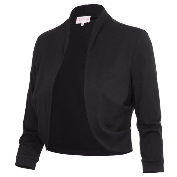Bolero Shrug Women Casual 3/4 Sleeve Cropped Basic Stitch Spring Short Stretchy Outerwear Womens Coats Slim Outwear Tops Jacket