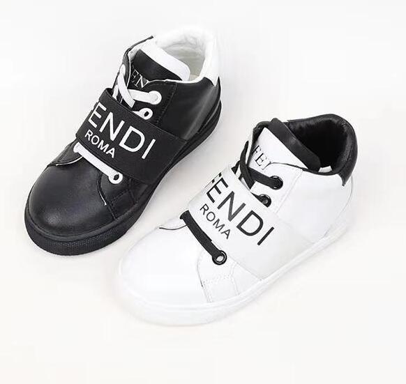 Çocuk ayakkabı siyah tasarımcı çocuk ayakkabı spor çocuk basketbol ayakkabı hakiki deri erkek bebek spor koşu sneakers toddler marka adı ayakkabı çocuk