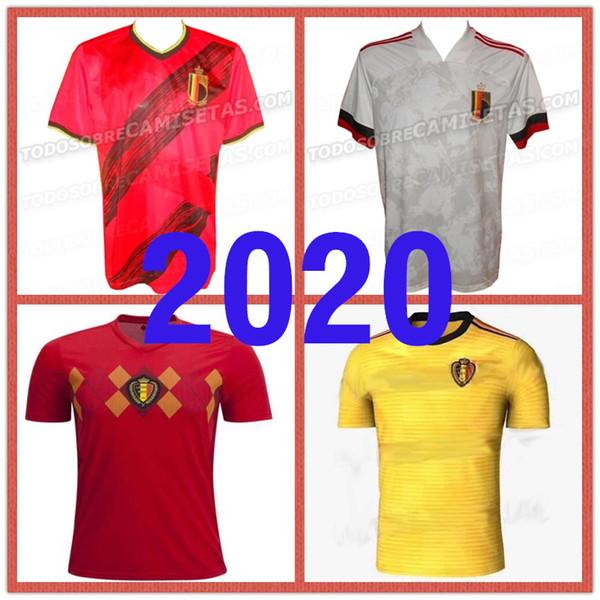 2019 2020 Belçika Ev Deplasman Futbol Formaları Tehlike De Bruyne Lukaku Futbol Camisa Belgique Futbol Camisetas Gömlek Kiti Maillot