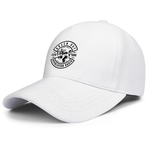 Green Day Revolution Radio Crest Band Logo white for men and women trucker cap ball cool fitted cute hats