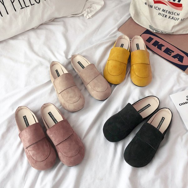 Noodles Baotou Clothes Other Low With Dawdler Comfortable Down Honor2019 Cool Half Slipper Woman