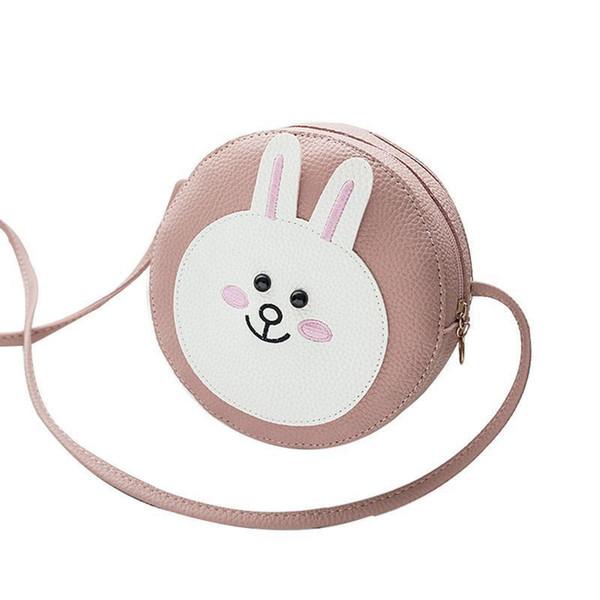 New Korean Fashion Cartoon Cute Rabbit Small Round Bag Single Shoulder Hand Bags For Female Women Ladies Girls Bag Mini Handbag