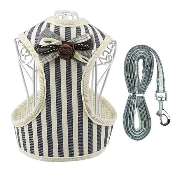 Weiche Mesh Hundegeschirr Leine Set Weste Tuch Brustgurt Kragen Kleidung Für Hunde und Katzen Weste Haustier Leine Liefert S M L XL