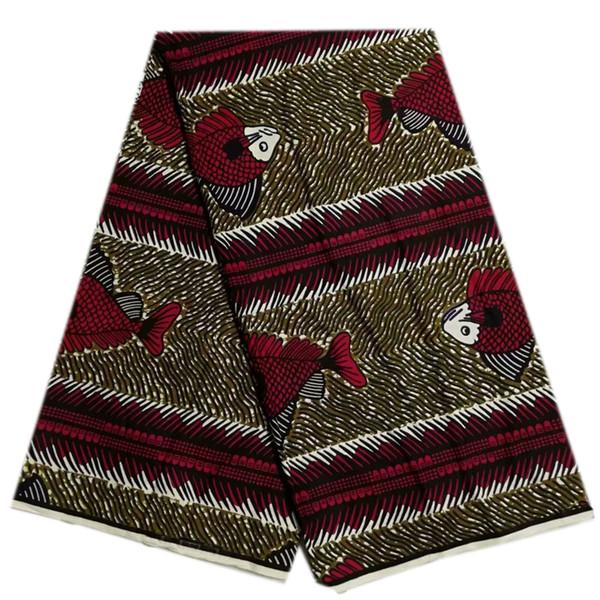 Hot sale African fabric real wax print fabric cotton batik Hollandais wax cloth 6 yards/piece ankara african wax print