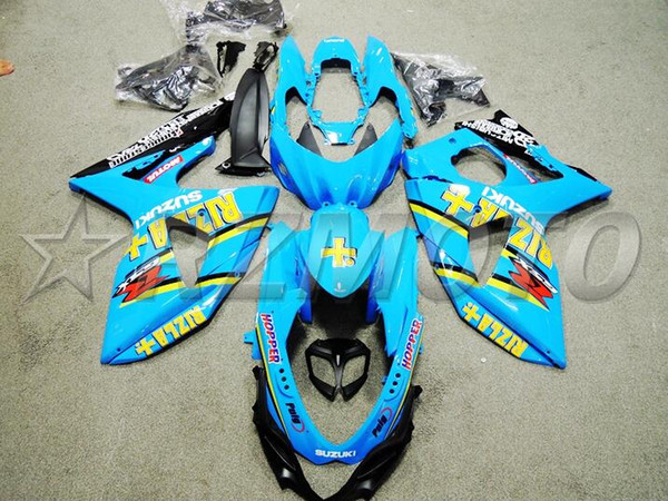 New ABS Injection Mold motorcycle fairings kit Fit for Suzuki GSXR1000 K9 2009-2016 09 10 11 16 GSX-R1000 L2 fairing kits nice blue RIZLA+