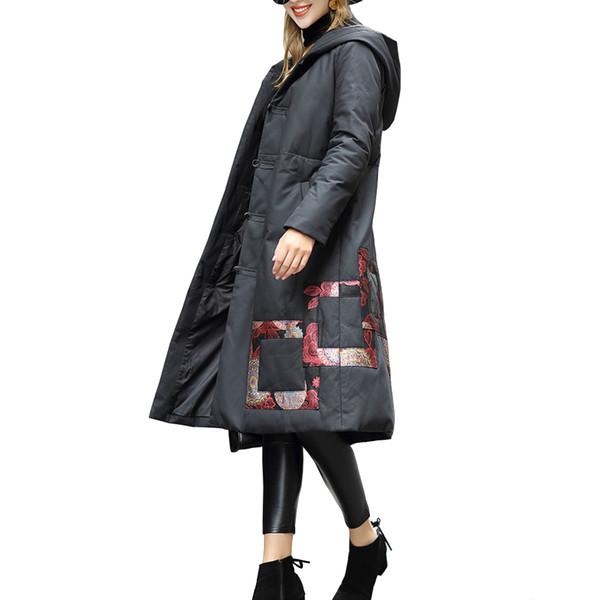 Genuine Leather Jacket Women Long Real Leather Sheepskin Down Jacket Sheepskin Coat F0191 White Duck Down Big Pocket
