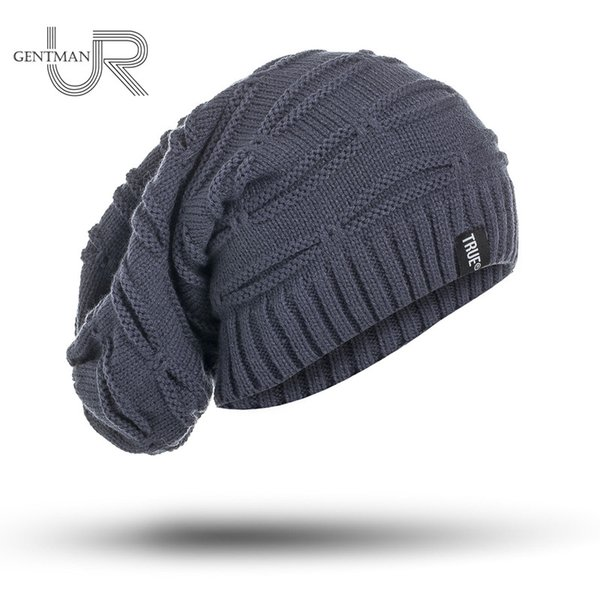 New True Letter Winter Hat Long Size Knitted Cap High Quality Casual Beanies For Men & Women Solid Bonnet Cap