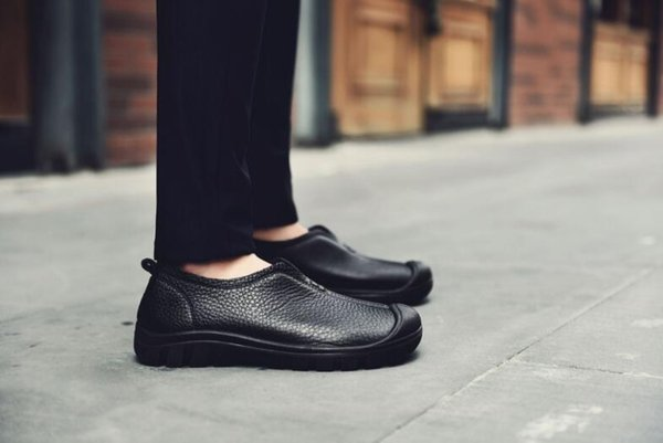 New first layer of leather leisure men wide and large size shoes business shoes men's outdoor trend of men