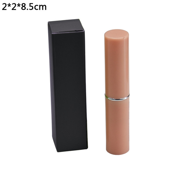2*2*8.5cm Black Kraft Paper Packaging Box Retail DIY Lipstick Boxes Wedding Favor Decorative Gift DIY Package Paperboard Boxes 50pcs/lot