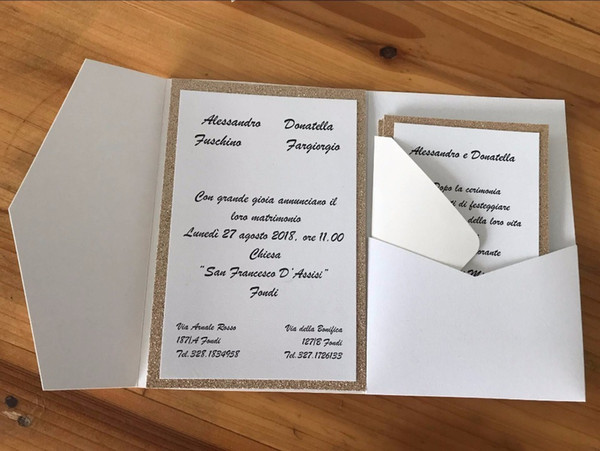 Pocketfold Wedding Invitation Cards Three Folded Card And Pearl Paper Pocket Greeting Invitations Cover For Party T8190617 Free Christmas Cards Online