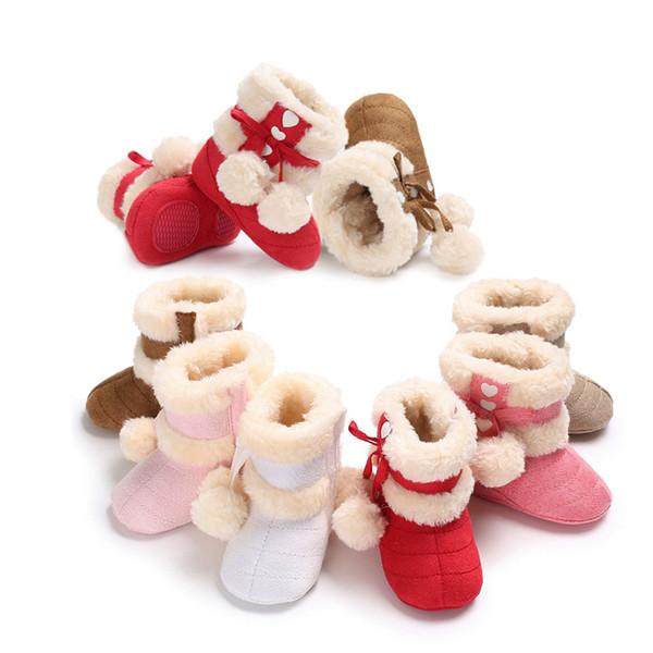 bottes de neige pour enfants hiver 2019 chaussures bébé épaississement de la chaleur en daim dans les filles tube menotté