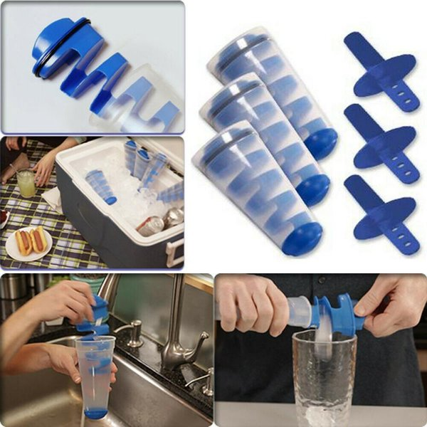 best selling Mighty Freeze Creative Ice Maker Tool Spiral DIY Mold Silicone Ice Bucket Portable Tubes Multifunctional Ice Pop Maker CCA11547 20pcs