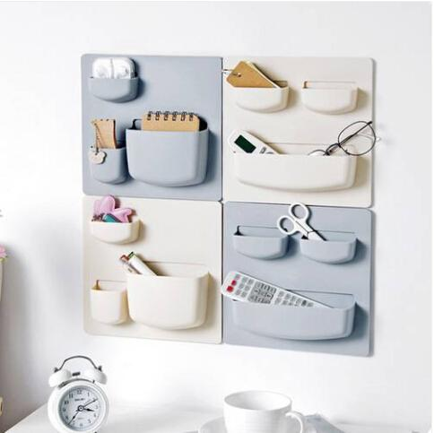 2019 Sales!!! Free shipping Wholesales Home Storage Wall Suction Cup Plastic Storage Rack Cosmetic Toiletries