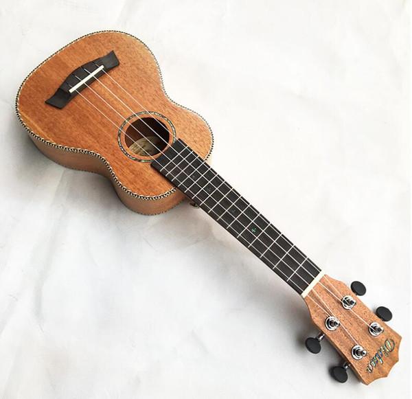 Envío gratis 21 pulgadas chapa ukulele rayado caoba hawaiana uklele fideos solo principiante práctica