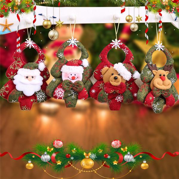 Новый Рождественская елка висит Санта Снеговик медведь куклы висит рождественские украшения игрушки подарок бесплатная доставка