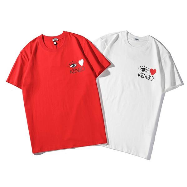 2019 New Trend Uomo T-shirt Moda paio Casual O-Collo Top in cotone manica corta Camicetta unisex Nuovo arrivo asciugatura rapida Abbigliamento sciolto Top