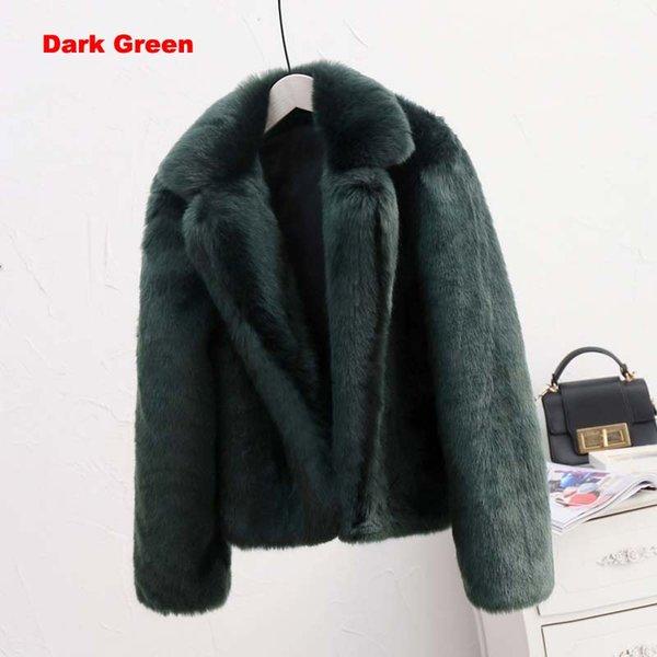 темно-зеленый искусственный мех