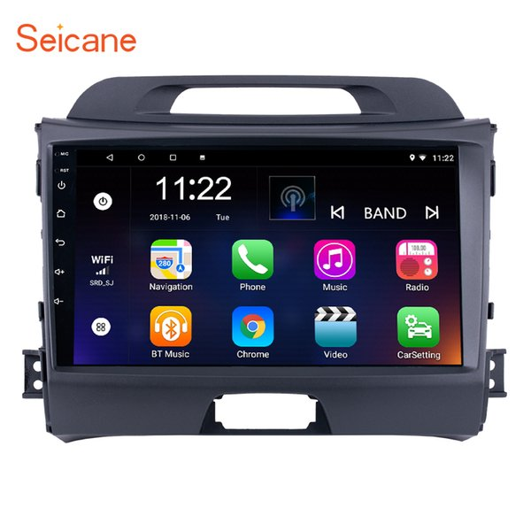 HD 1024*600 Touchscreen 9 inch Android 8.1 Car Radio for 2010-2015 KIA Sportage with Bluetooth Music USB Aux WIFI GPS Navi support 1080P DVR