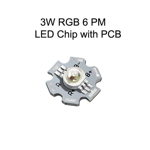 3W RGB 18:00 LED Chip Com PCB
