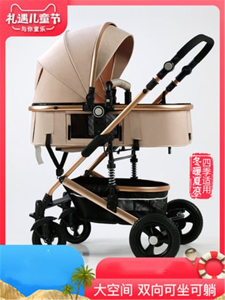 Passeggino Cavolf alta luce paesaggio può sedersi pieghevole passeggino neonato a due vie pieghevole