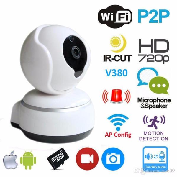 Wireless Wifi IP Camera CCTV Surveillance Security Camera Night Vision Phone App Control IR Webcam Support TF Card HD 720P