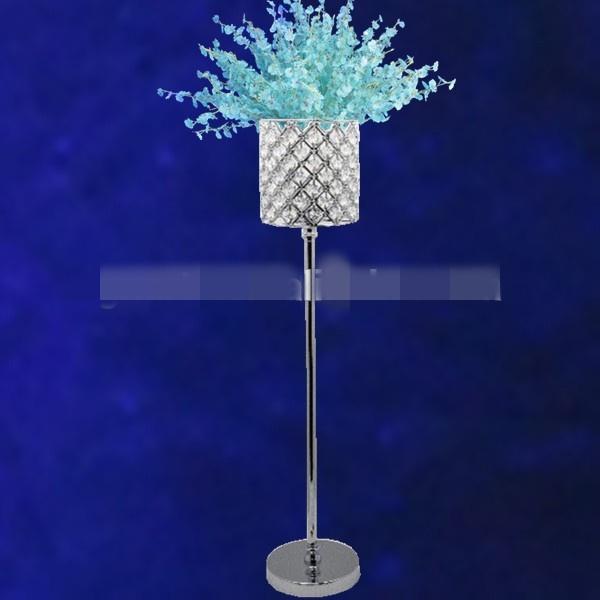 New style HOT! trumpet flower insert cylinder mental home decoration vase for wedding best01101