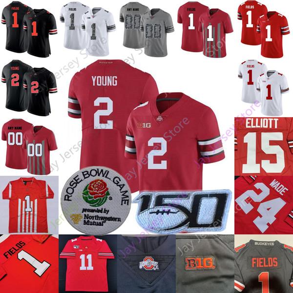 Özel Ohio State Buckeyes Futbol Jersey Koleji OSU Justin Alanlar Chase Genç Dobbins Usta Teague III K.J. Tepesi Austin Mack Wade George