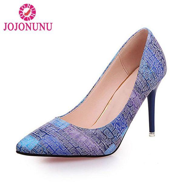 Designer Dress Shoes JOJONUNU Women Pumps Party Wedding Super High Heel Pointed Toe Chaussure Femme Talon Brand Ladies Size 35-39