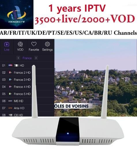 Android 6.0 Q1604 tv box 1G+8G With Subtv 3500+live fulll europe arabic and 2000+VOD channels France Canada USA Portugal IPTV