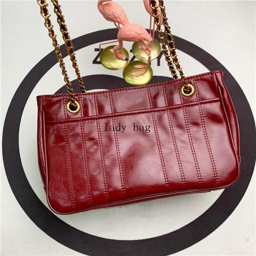 Mode Luxe sacs à main femmes designer sac à bandoulière chaîne sac à bandoulière sac en cuir véritable sacs à main femmes cire huile portefeuille livraison gratuite
