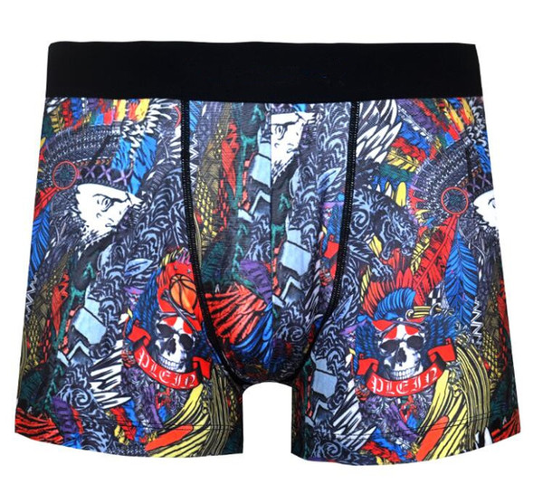 #5 size S M L XL U convex brand new Cartoon Black boxer print is loose hot pants men's underwear Easy and comfortable, good quality