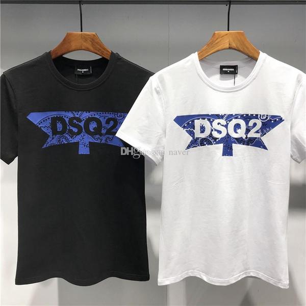 PHILIPP PLEIN DSQUARED2 DSQ2 D2 2019 SS Nouvelle Arrivée Designer Vetements Homme T-shirts D2 Imprimé Tees Taille M-3XL DT427