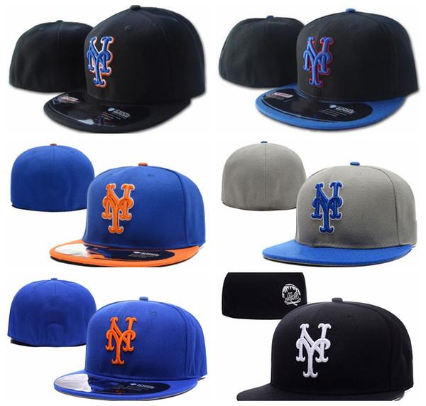 Yeni Unisex Mets NY mektup Beyzbol kapaklar Rahat Yaz Erkekler kadınlar için Açık Spor toptan Donatılmış Şapkalar