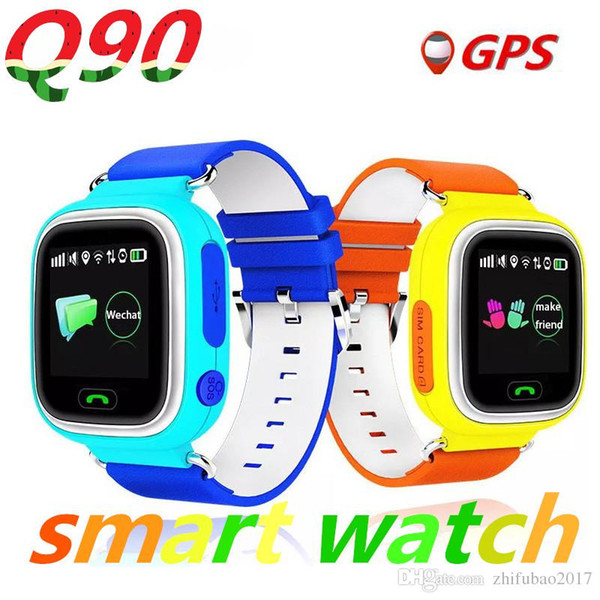 Q90 GPS reloj inteligente reloj para bebé con pantalla táctil Wifi SOS Ubicación de ubicación DeviceTracker para niños Anti-Lost Monitor