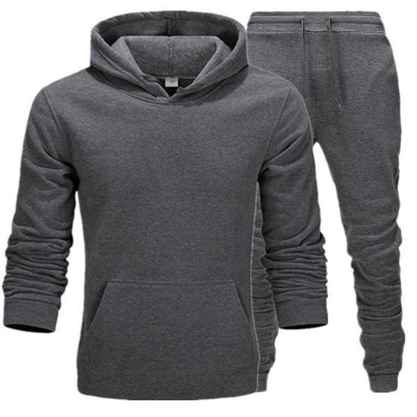2019 nuovi uomini di marca calda felpa biancheria intima termica Tuta Uomini Sportswear Imposta Fleece Thick hoodie + pantaloni sportivi Suit Maschio