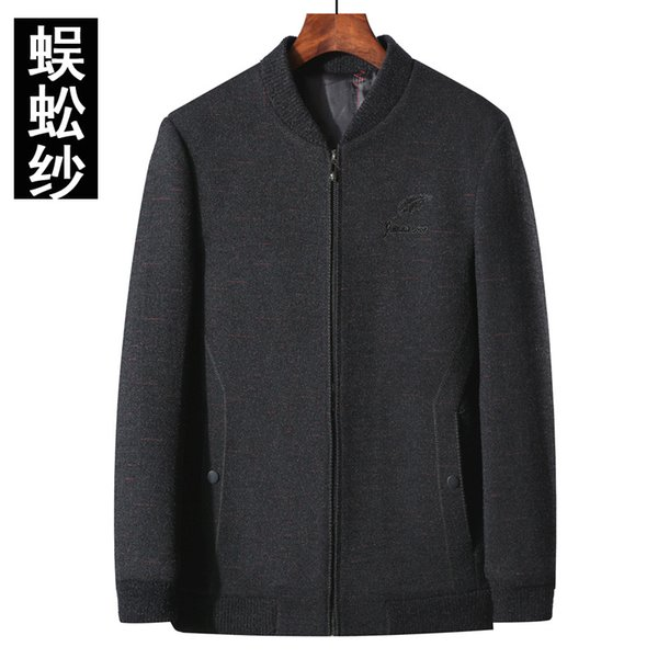 In the fall and winter of 2019 men's upset man baseball jacket collar wool woolen cloth coat jackets menswear
