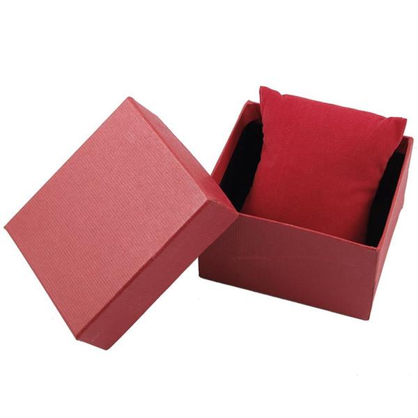 Supporto per scatola di immagazzinaggio orologio da polso da regalo rettangolo rosso
