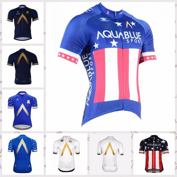 Aqua Blue Team Cycling Short Sleeves jersey 2019 MTB Bicycle Clothes Ropa Ciclismo Maillot Culotte Bike Clothing Sportswear w30602