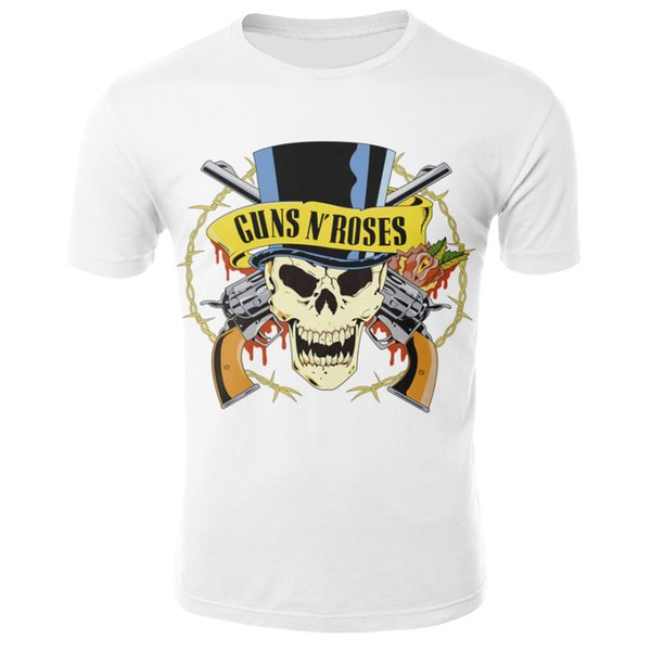 Roses Et Guns T-shirt Band Tops Guns N Roses Vêtements T-shirts Chemises T-shirts Hommes Drôle 2017 Hip hop Sexy Haute Qualité cool t-shirt