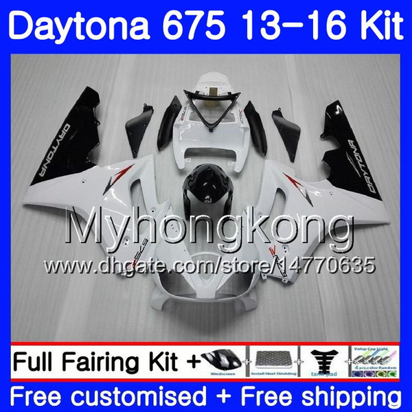 Body white glossy hot For Triumph Daytona-675 Daytona 675 13 14 15 16 Bodywork 328HM.4 Daytona675 Daytona 675 2013 2014 20 15 2016 Fairings