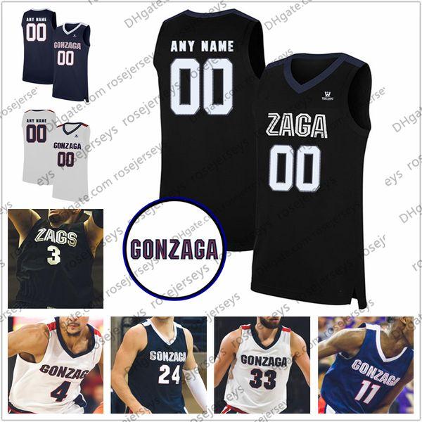 Jack Beach Gonzaga Bulldogs Basketball Jersey - Black