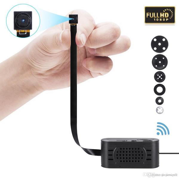 V89 1080P placa de módulo pinhole Cámara HD wifi inalámbrico P2P DIY Módulo Cámara IP con banco de energía H.264 DVR Cámaras de vigilancia inalámbricas