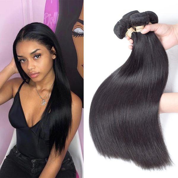 4 Bundles Peruvian Hair Straight Weave Bundles 100% Human Hair Peruvian Bundles Monika Natural Color Virgin Hair Extensions