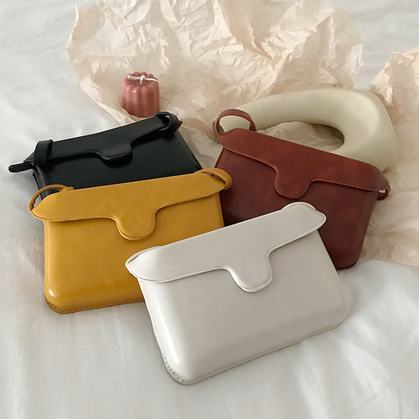 2019 модный дизайнер сумки женские наклонные одно плечо сумка Baitie чистый цвет сумка для отдыха легко носить Бесплатная доставка быстрая доставка