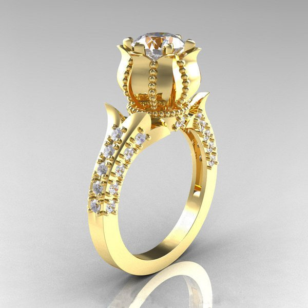 Gold-plated Zirconium Shi Huahui Ring Originality Fund Ma'am Hand Decorated With Diamond Ring Finger