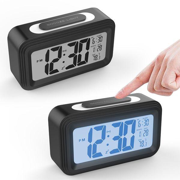 Enfants Alarme Horloge LED Alarme Numérique Température Température BackLight Capteur Night Light Bureau Horloges De Bureau