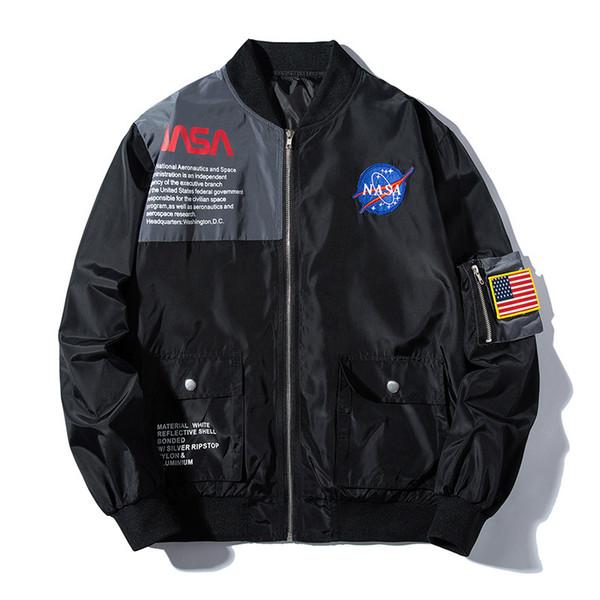 Erkekler ve Kadınlar MA1 Uçuş Ceket Bombacı Ceketler Hip Hop Sokak Mont Askeri Dış Giyim Palto Casual Tops 2019 İlkbahar Sonbahar Giyim