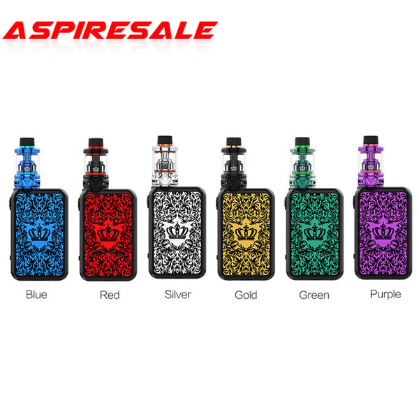 Authentic Uwell Crown IV 4 200W Kit with 5ml Tank with Dual SS904L Coil for 510 Thread Mod Battery E Cigarette Kit