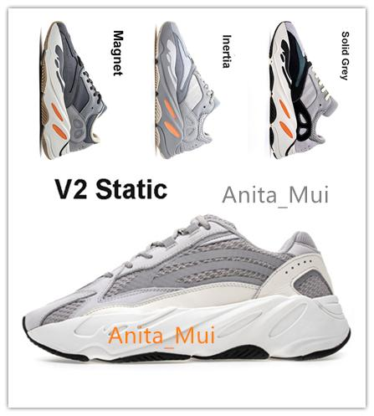 best selling Ever-popular 700 V2 model Kanye West Shoes 2020 Wave Runner Sneaker Hospital Blue Tephra Vanta Inertia Magnet Mauve Salt Black Static Analog