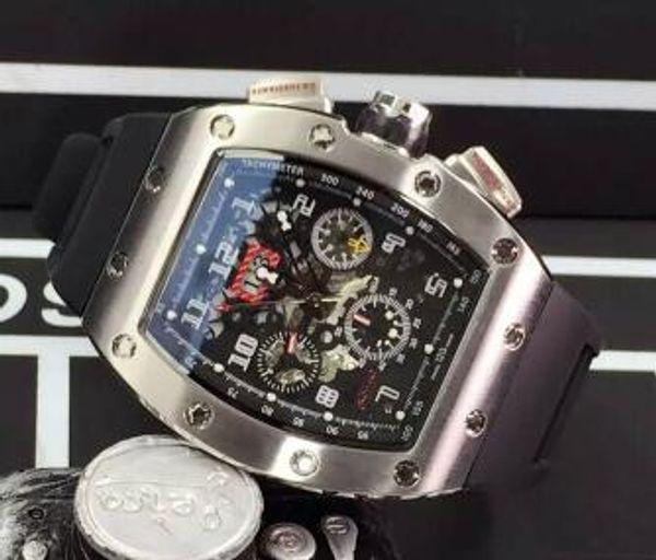 Melhor Marca New Arrivals Mens Luxo Automático Mecânico Relógios Inoxidável Data Dia Transparente De Volta Mergulho De Borracha Homens Modernos Esporte relógio de Pulso